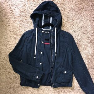Blue Hooded Jacket